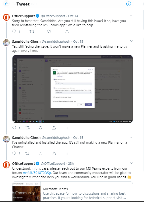 Office Support on Twitter