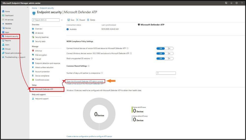 Setting up Microsoft Defender for Endpoint in MEM