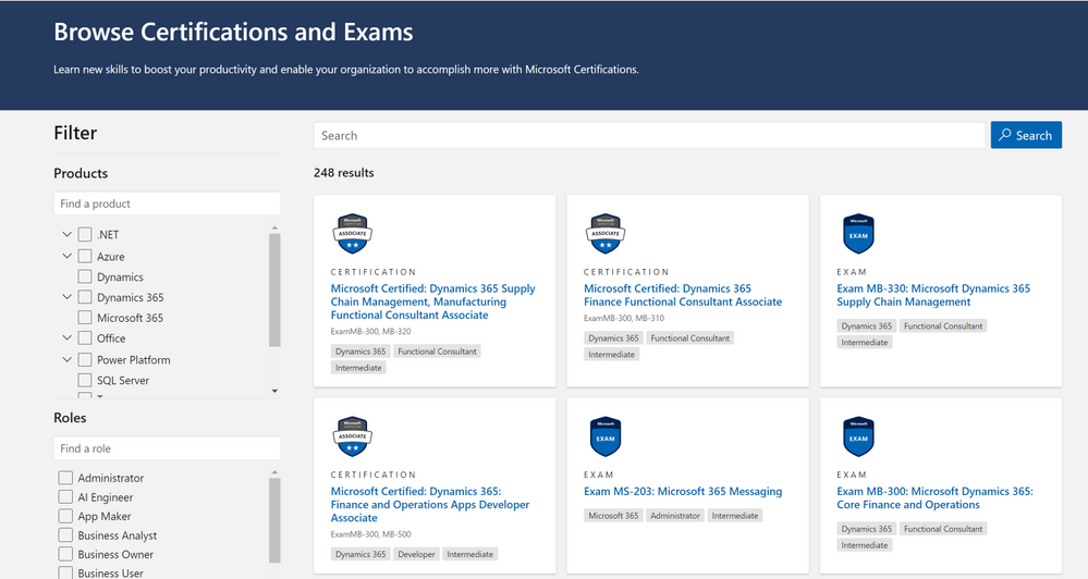 Certifications and Exams