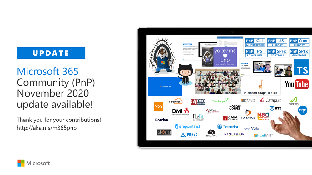 Microsoft 365 & SharePoint Community (PnP) – November 2020 update