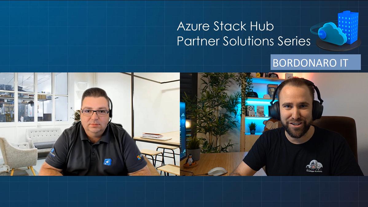 Azure Stack Hub Partner Solutions Series – BORDONARO IT