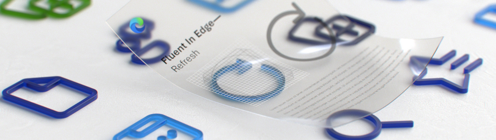 Three-dimensional rendering of some of the new Fluent icons (Image by Cody Sorgenfrey)