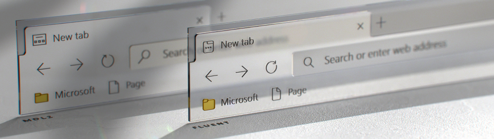 Side-by-side comparison of the Edge browser frame with the old and new icons (Image by Cody Sorgenfrey)