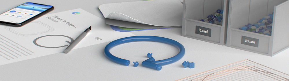 Three-dimensional rendering of a blue refresh icon with rounded caps (Image by CodySorgenfrey)