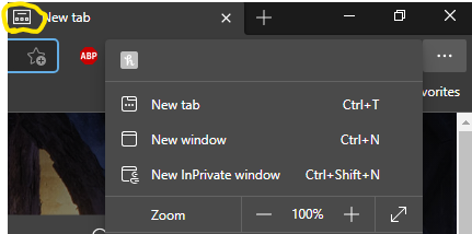 The old new tab logo shows up on the new tab, instead of the new fluent one