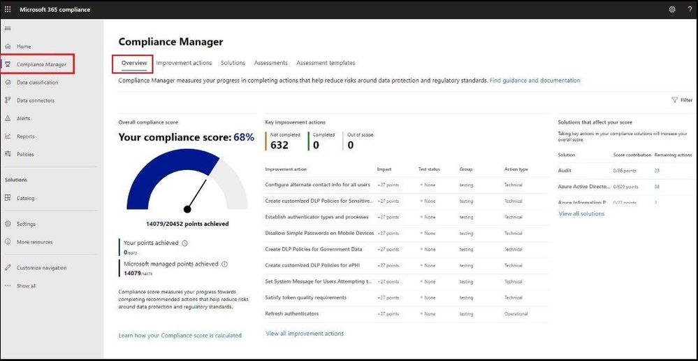 Microsoft 365 Compliance Center