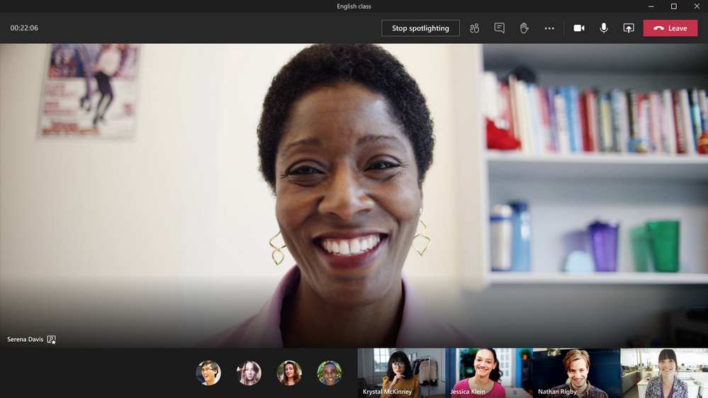 Educators can now select their video for the entire class using Spotlight.