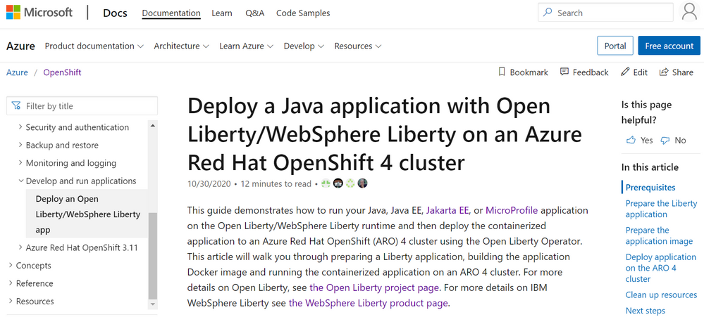 thumbnail image 1 of blog post titled              Run WebSphere Liberty and Open Liberty on OpenShift