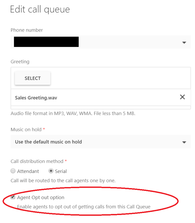 Agent Opt Out Option