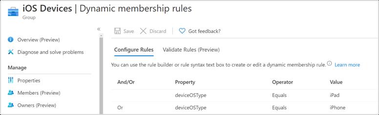 iOS Dynamic membership rules