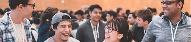 Photo: The Tremor Vision team laughs together at Imagine Cup 2020.