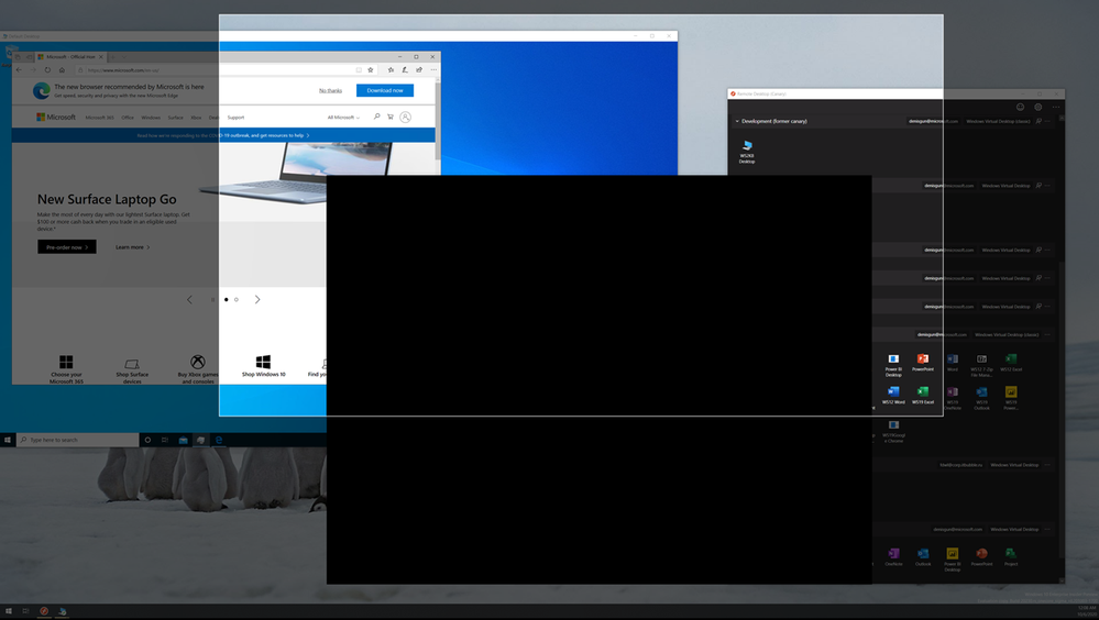 thumbnail image 1 of blog post titled              Announcing public preview of Screen Capture Protection in Windows Virtual Desktop