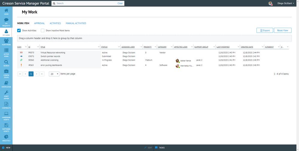 Service Manager Portal