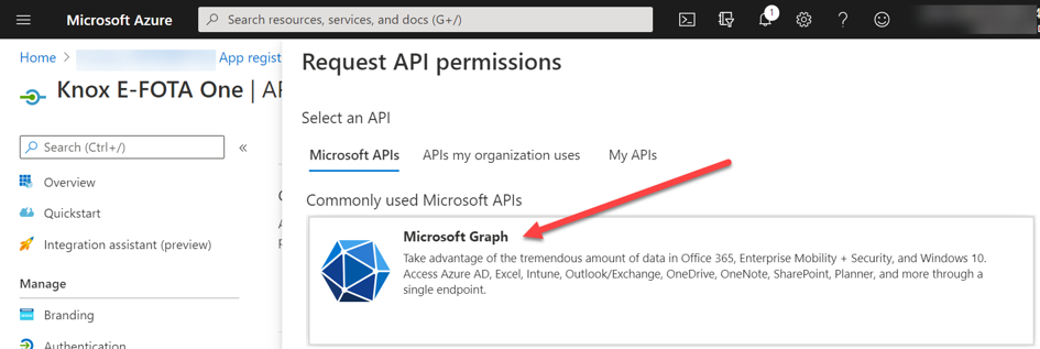 API permissions request for Microsoft Graph