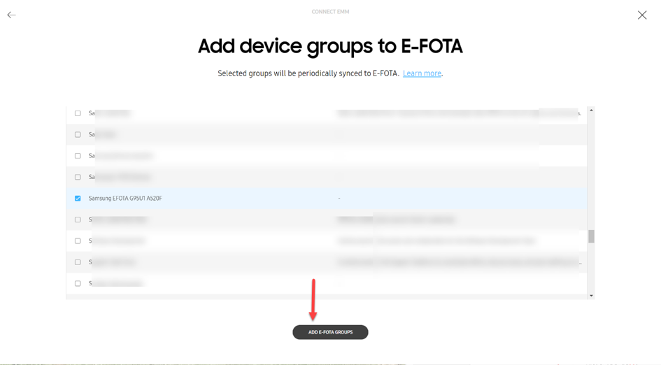 Add dynamic device groups to E-FOTA
