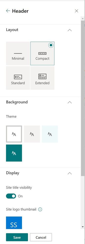 """From the upper-right gear icon, click into the """"Change the look"""" panel, select """"Header"""" and then customize it the way you prefer."""