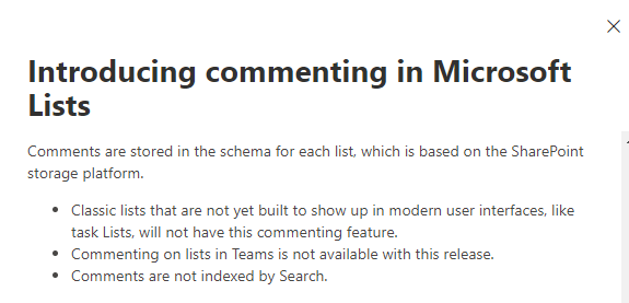 Commenting in Microsoft lists.PNG