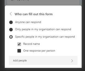 Specific People Can Respond - Mobile