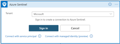 thumbnail image 7 of blog post titled              What's new: Managed Identity for Azure Sentinel Logic Apps connector