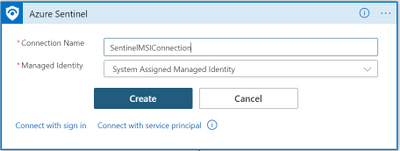 thumbnail image 8 of blog post titled              What's new: Managed Identity for Azure Sentinel Logic Apps connector