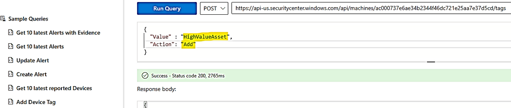 thumbnail image 9 of blog post titled              Microsoft Defender for Endpoint Adding Tags for Multiple Devices  from CSV List