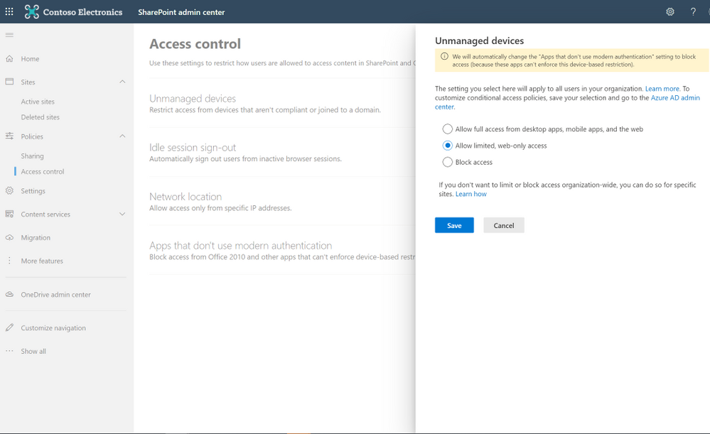 Set data access controls for your users