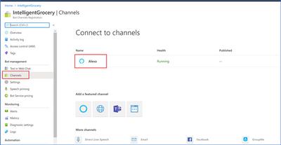 Azure Bot Service Channels
