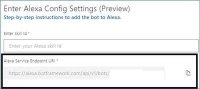 Alexa config settings in Azure bot service.jpg