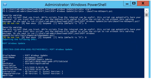 You can add the MSFT Windows Update GPO that adds the Update Baseline to GPMC with a single command.