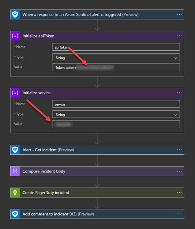 thumbnail image 10 of blog post titled  	 	 	  	 	 	 				 		 			 				 						 							Centralize your security response with Azure Sentinel & PagerDuty