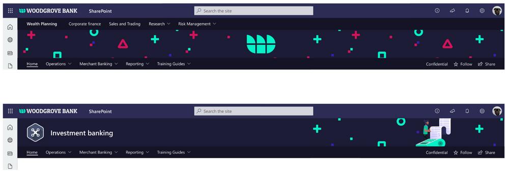 Brand Illustration samples SharePoint extended site header