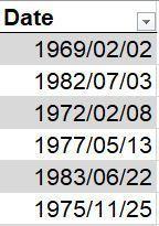Excel Date Format