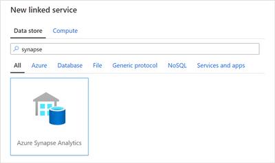 New Azure Synapse Analytics linked service