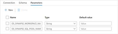 Dataset parameters