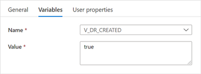"""""""Set V_DR_CREATED to true"""" settings"""