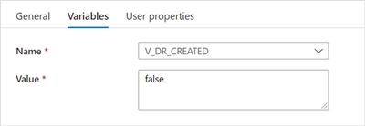 """Set V_DR_CREATED to false"" settings"