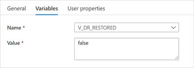 """Set V_DR_RESTORED to false"" settings"