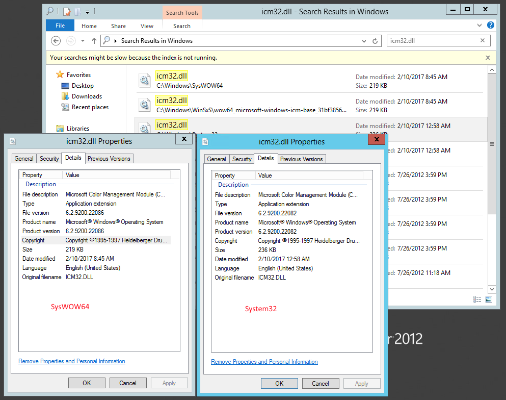 icm32.dll not updated in Win2012-R1