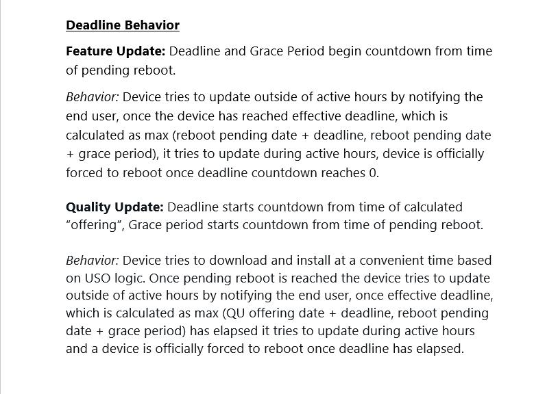 This is a detailed description of the compliance deadline behavior.