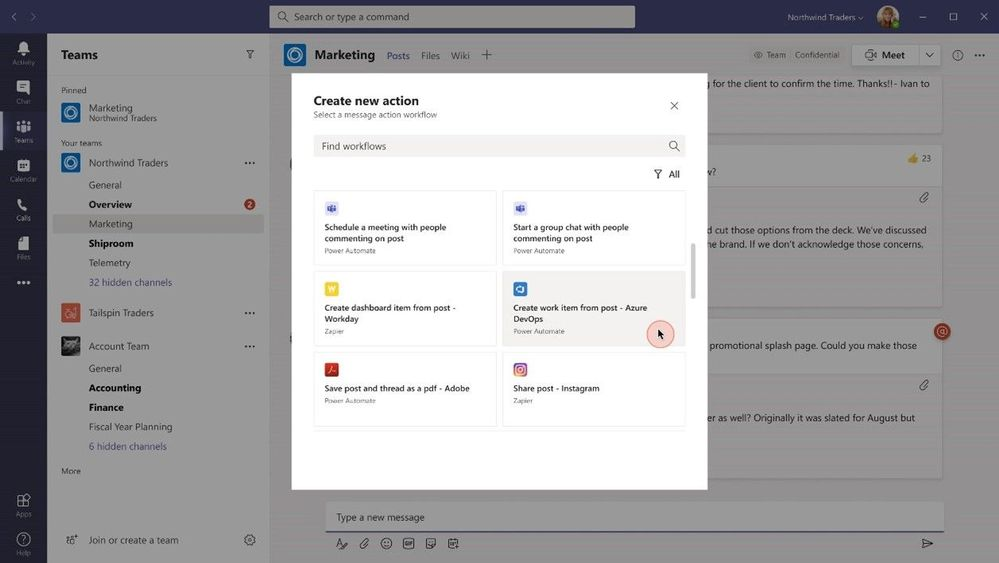 thumbnail image 14 of blog post titled  	 	 	  	 	 	 				 		 			 				 						 							What's New in Microsoft Teams | Microsoft Ignite 2021
