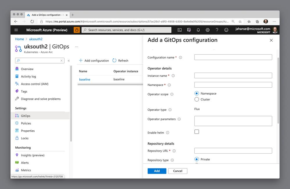 Add a GitOps configuration