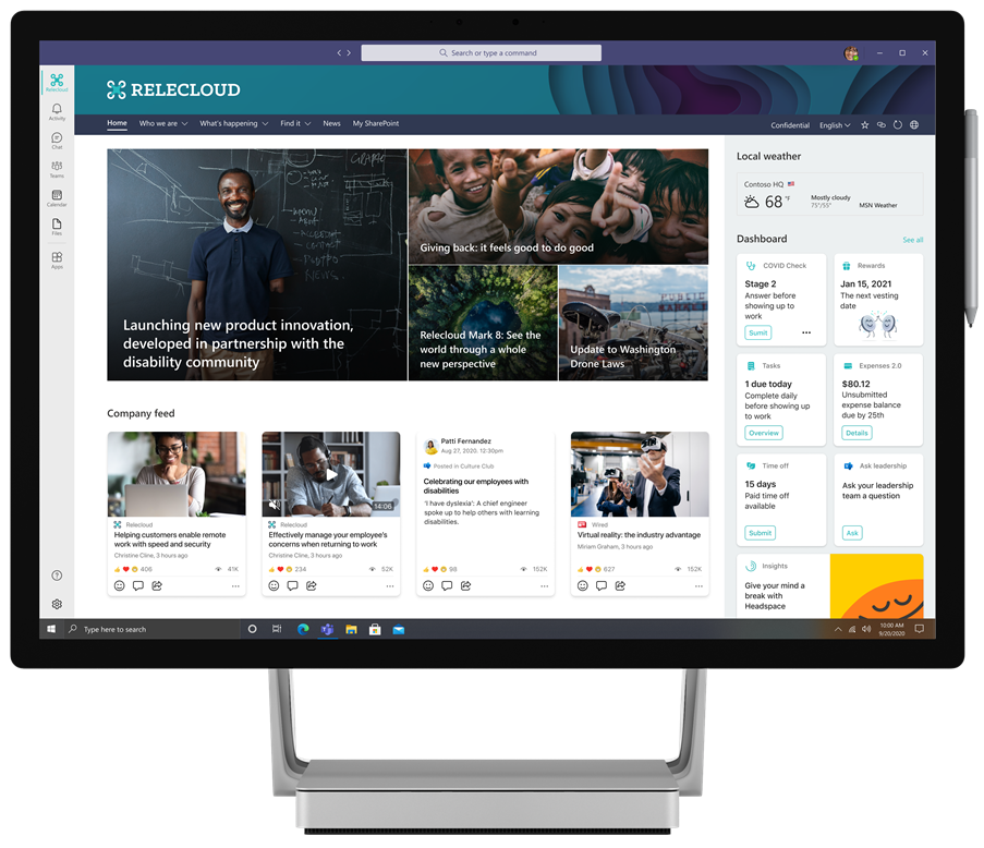 The Microsoft Teams desktop experience of Microsoft Viva Connections will be generally available later this month.