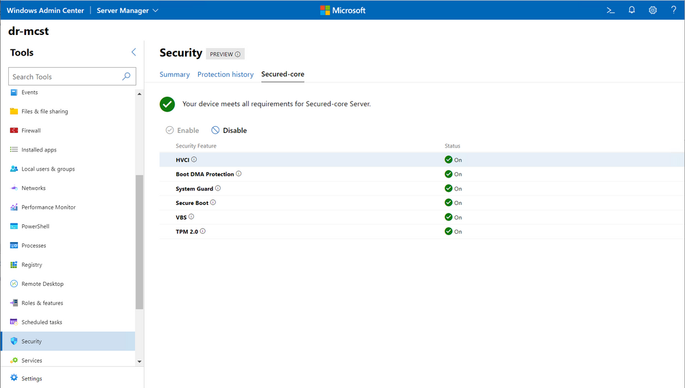 Windows Admin Center Security extension makes management easy