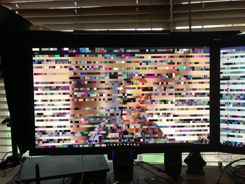 video garbage - laprop now frozen!