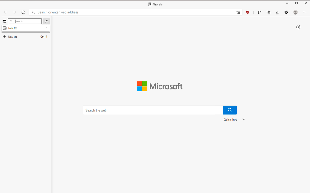 Vertical Tabs with Search Tabs Bar