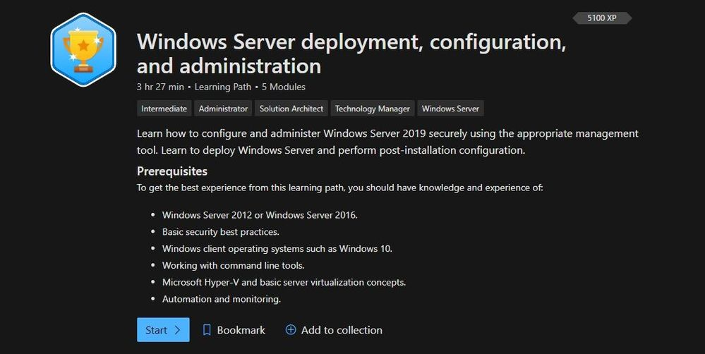 Windows Server deployment, configuration, and administration