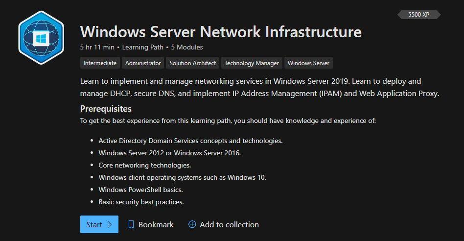 Windows Server Network Infrastructure
