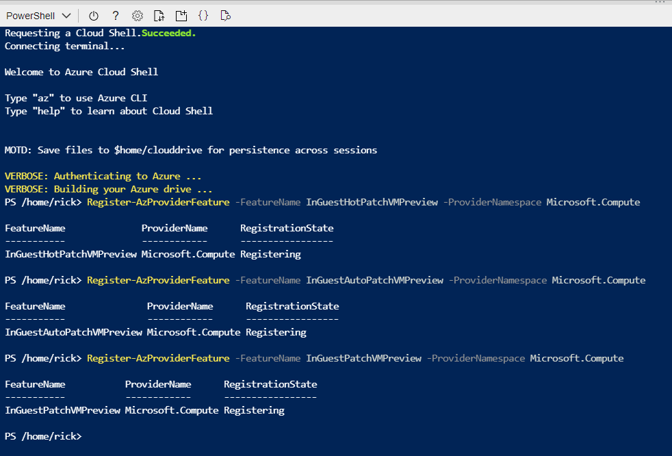 Windows Server 2019 Datacenter: Azure Edition with hotpatching support