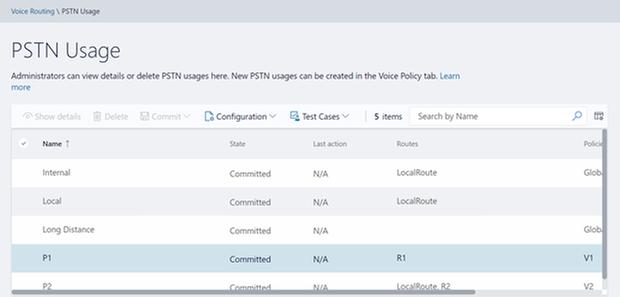 PSTN Usage Home screen