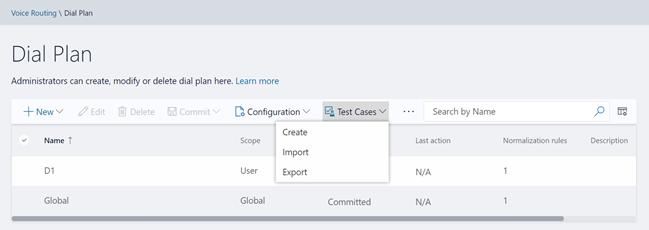 Import/Export/Create Test Cases